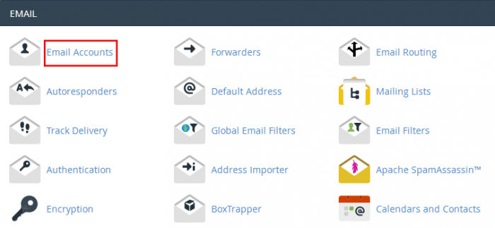 ساخت ایمیل در cpanel