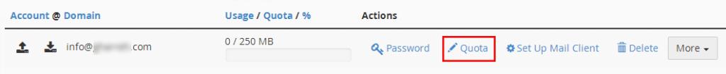 محدودسازی اکانت ایمیل در cpanel