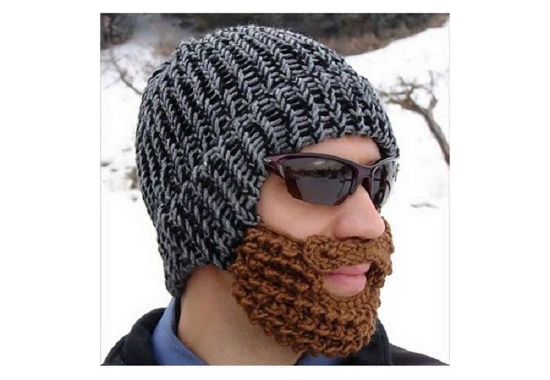 کلاه با ریش بافتنی