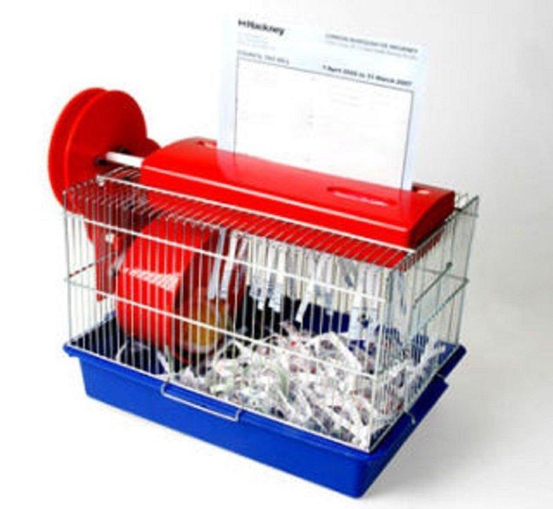 دستگاه کاغذ خردکن برای قفس همستر