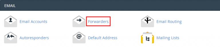 Forward Email در cpanel