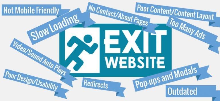 کاربران یک سایت را ترک میکنند