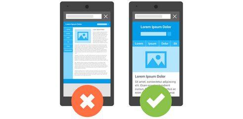 مناسب نبودن طراحی سایت در موبایل