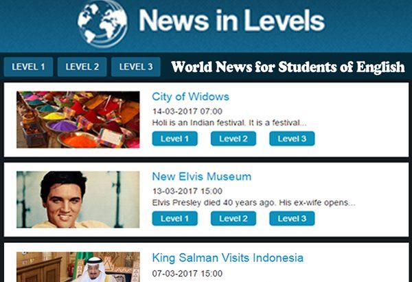 سایتیادگیری مجازی زبان انگلیسی:News in Levels