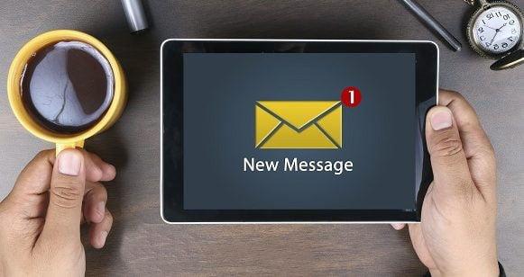 ارسال ایمیل پبگیری