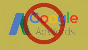 گوگل ادوردز ساسپند شده