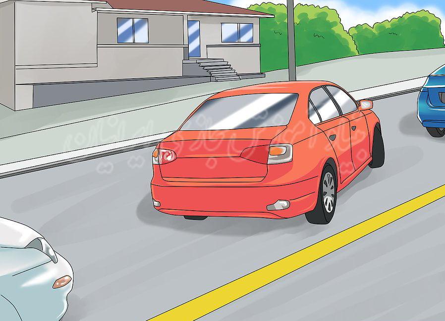 نحوه ی پارک کردن ماشین در تپه