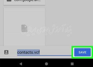 نحوه گرفتن نسخه پشتیبان از فهرست مخاطبین در گوشی های اندروید