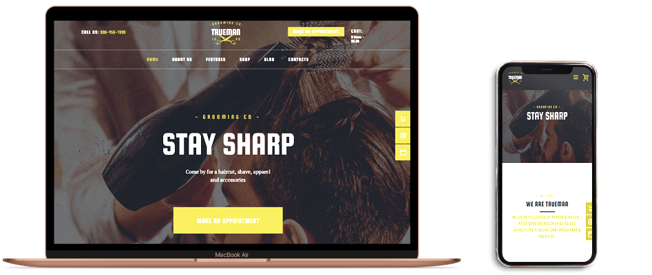 وب سایت ویژه سالن های آرایشی مردانه