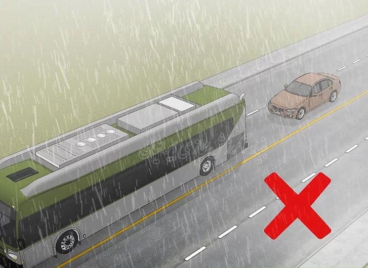 افزایش دید در رانندگی هنگام بارش باران
